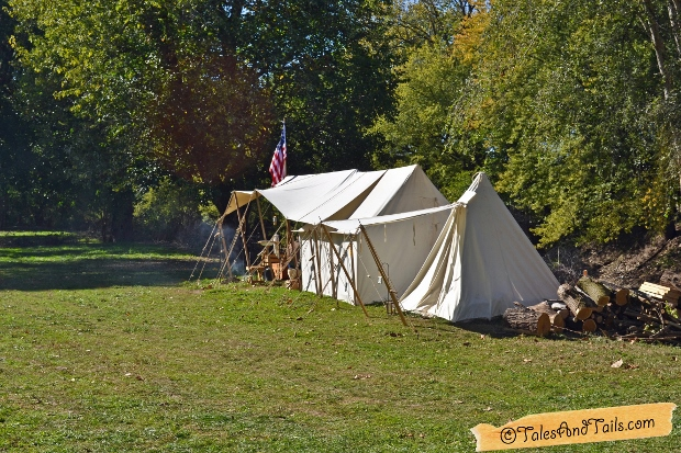 Civil War Tent -- Tales and Tails